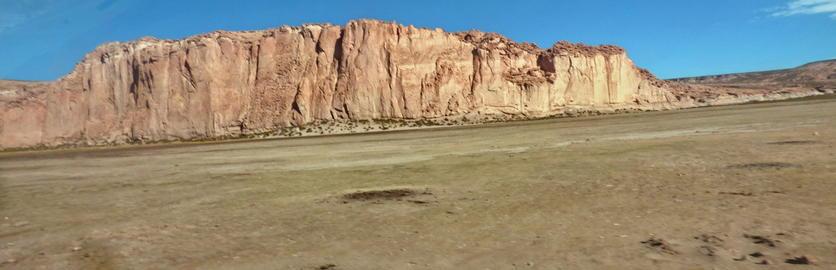 Cliffs in Altiplano. Bolivia, south America フォト