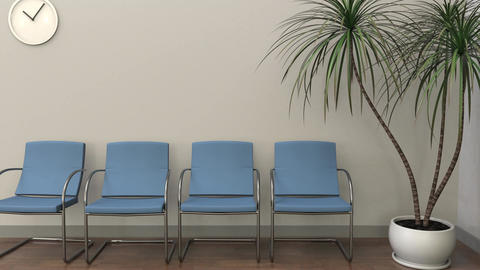 Waiting room at gynecologist office Footage