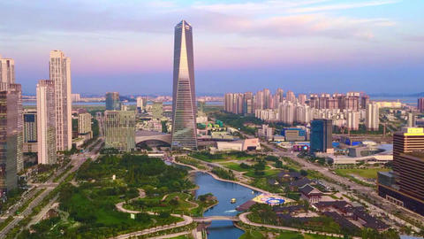 Time lapse at Incheon,Central Park in Songdo International Business District , Footage