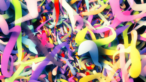 Abstract Looping CGI motion graphics with colored lines Animation