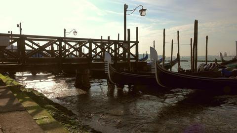 Gondolas on Canal Grande in Venice, Italy Footage