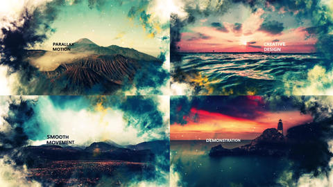 Color Ink Cinematic Slideshow After Effects Template
