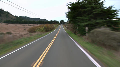 Country driving winding road Footage