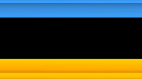 Yellow and Blue Lines Horizontal Wipe Transitions Animación