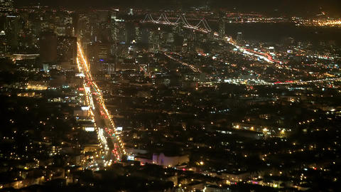 Night hills traffic timelapse Footage