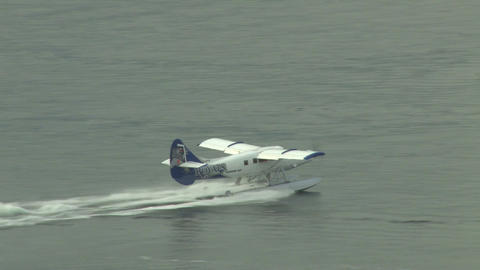 Seaplane departing from port Footage