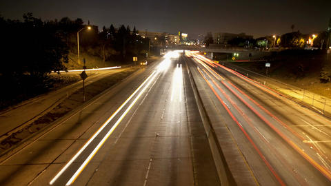 Streaking highway timelapse lights Footage