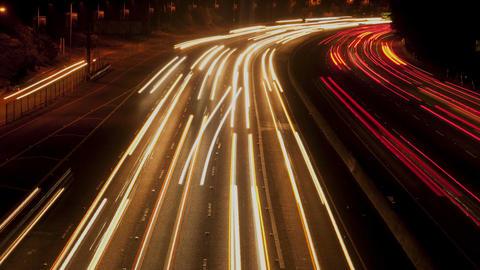 Speedway light trails on west coast Live Action