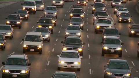 Timelapse headlights traffic Footage