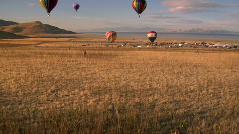 View from inside hot air balloon Live Action