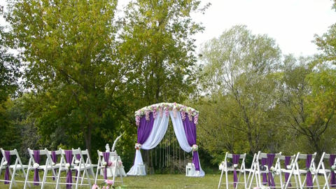 wedding arch, decor, ceremony, flowers ビデオ