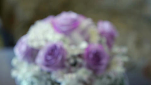 Wedding bouquets on the table Footage