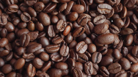 coffee beans on rotating stand closeup Footage