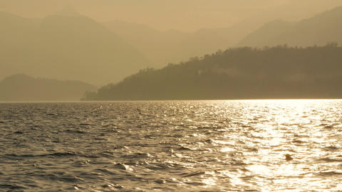 Lake Como in Italy at the dusk Footage