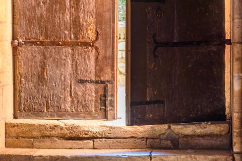 Ancient wooden door Foto