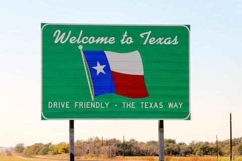 Welcome to Texas sign Fotografía