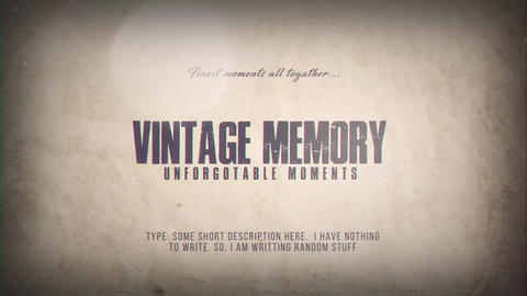 Vintage Memory After Effectsテンプレート