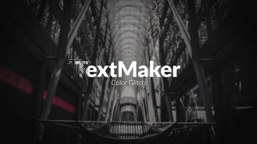 TextMaker - Color Glitch Premiere Pro Template