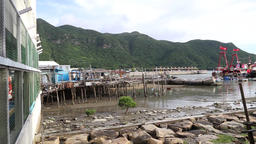 Tai O fishing village Lantau Island Hong Kong Footage