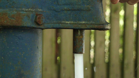 backyard water column Footage