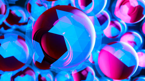 Abstract CGI motion graphics and blue background CG動画素材