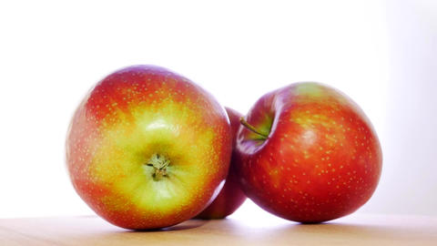 Fresh Juicy Yellow Red Apples Footage