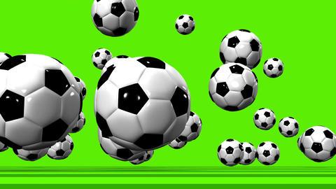Bouncing Soccer Balls On Soccer Field 動画素材, ムービー映像素材