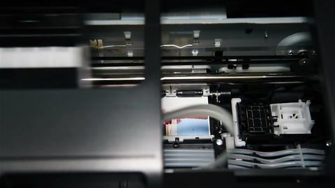Printer Printing Photo Footage
