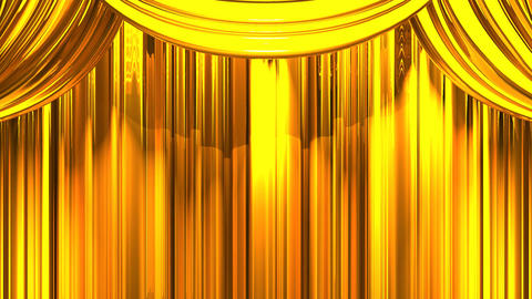 Gold Stage Curtain On Black Background CG動画