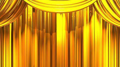 Gold Stage Curtain On Blue Chroma key CG動画