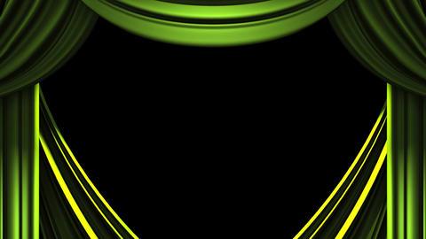 Green Stage Curtain On Black Background 動画素材, ムービー映像素材