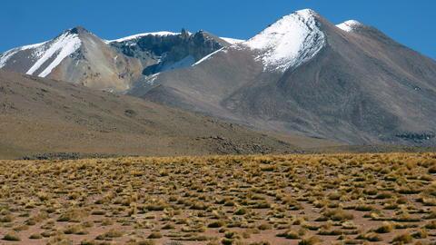 Siloli desert in Altiplano. Bolivia, south America Foto