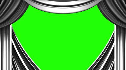 White Stage Curtain On Green Chroma key CG動画