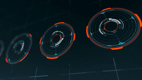 HUD futuristic High Tech Display Scanner Animation