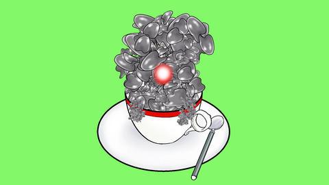 Creeping coffee jelly Animación