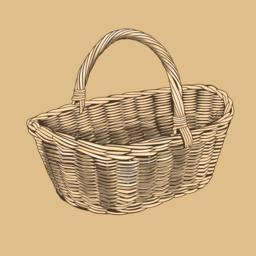 Baskets In Woodcut Style 0