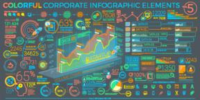 Colorful Corporate Infographic Elements Vector