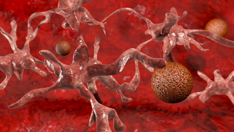 Cancer cell with high details Stock Video Footage