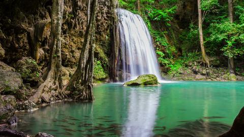 arawan Beautiful natural waterfall Archivo