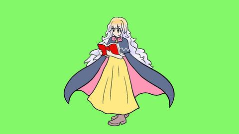 Wizard girl Animación