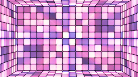Broadcast Twinkling Hi-Tech Cubes Room, Purple, Abstract, Loopable, 4K Animation