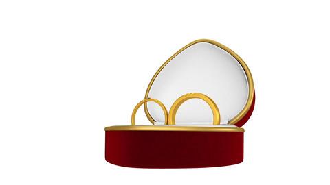 Rings Box Transition CG動画素材
