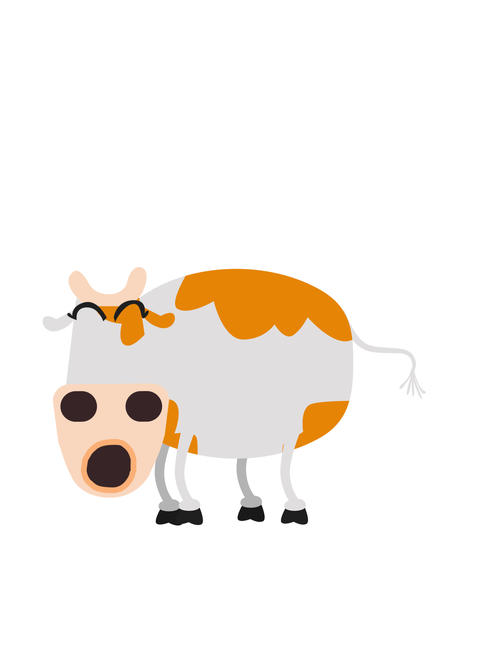 Cow MOOing Animation