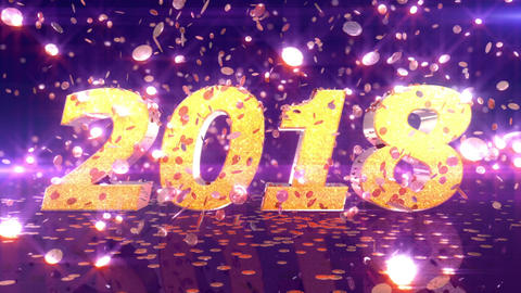 New Year 2018 Animation Animation