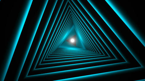 Triangle Future Space Tunnel. A Science Fiction Composition Filmmaterial