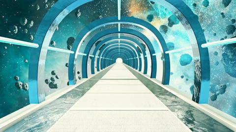 Abstract sci-fi space corridor Animation