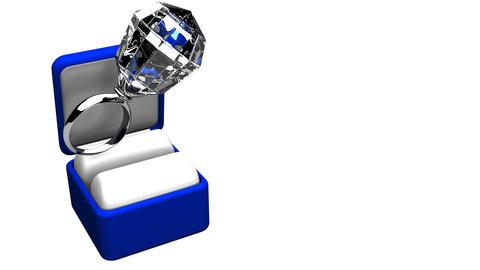 Big Diamond Ring On White Text Space CG動画