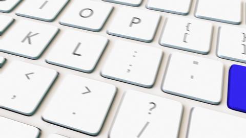 Computer keyboard and blue hack key Footage
