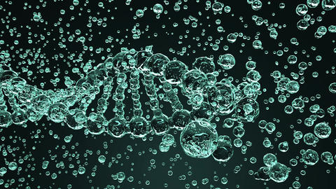Breaking glass DNA molecule, seamless loopable animation. Harm, disease or Footage