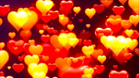 Flying Hearts, Abstract Loopable Background CG動画素材